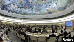 La o sesiune a Consiliului ONU pentru Drepturile Omului de la Geneva