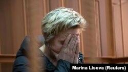 Nadezda Suddenok, propietarul oficial al mall-uui din Kemerovo, la prima apariție în tribunal, 28 martie 2018