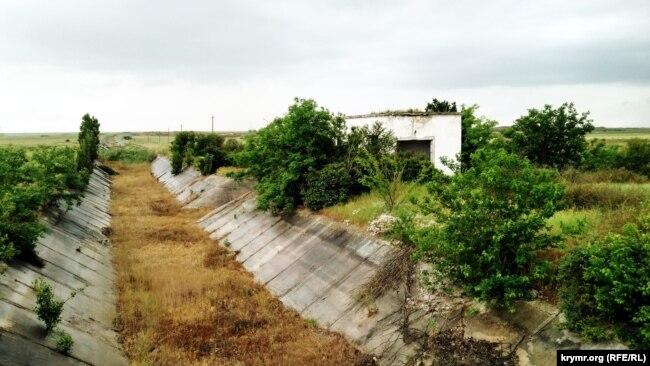 Участок Северо-Крымского канала, июнь 2019 года