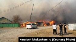 Пожежі в російському регіоні Хакасія, квітень 2015 року