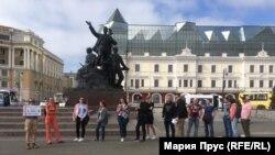 Пикет в поддержку Голунова во Владивостоке