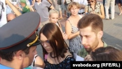 Павал Юхневіч на Дні салідарнасьці 16 жніўня сёлета.