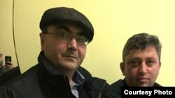 Азербайджанський активіст Ялчин Гахраманогли та журналіст Фікрат Гусейнов у Києві (фото: Ялчин Гахраманогли)