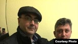 Азербайджанский активист Ялчин Гахраманоглы и журналист Фикрат Гусейнов в Киеве (фото: Ялчин Гахраманоглы)