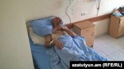 Смбат Акопян в больнице, 22 сентября 2015 г.