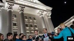 Ambasadori amerikan në Shkup, Jess Bailey, gjatë një adresimi para medieve