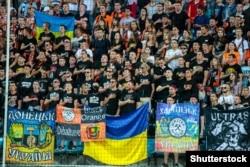 Вболівальники під час матчу за Суперкубок між донецьким «Шахтарем» і київським «Динамо». Одеса, 15 липня 2017 року