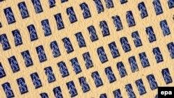 1700 пляжных ручнікоў сфатаграфаваныя з самалёта падчас кампаніі супраць загару. Аўстралія, 2009 год