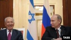 Россия. Шимон Перес и Владимир Путин. Москва. 08.11.2012