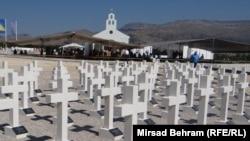 Groblje na zaravni Bile, petnaestak kilometara sjeverozapadno od Mostara