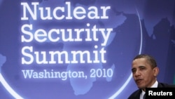 U.S. President Barack Obama at the Nuclear Security Summit in Washington