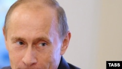 Prime Minister Vladimr Putin at the Valdai discussion club in Novo-Ogaroyovo