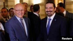 رئيس الوزراء اللبناني سلام تمام مع سعد الحريري
