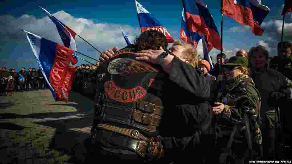 У Севастополі влаштували мітинг на честь річниці «приєднання» Криму до Росії, 18 березня 2017 року