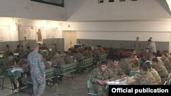 Armenia - U.S. military officers conduct a training course for Armenian army sergeants, 27Feb2014.