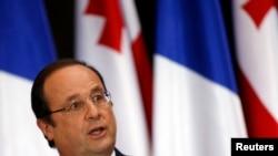 Francois Hollande në Tbilisi