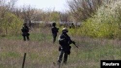Украинские военнослужащие под Краматорском