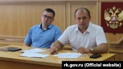 Сергій Донець (праворуч)