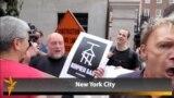 Gay Activists Dump Russian Vodka in NYC
