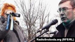 Юрий Луценко во время недавнего выступления в Харькове.