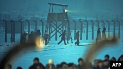 نمایی از آشوویتس- بیرکنائو در لهستان که شاهد کشتار عظیم یهودیان در زمان جنگ جهانی دوم بود.