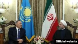 Назарбаев жана Роухани. Тегеран, 11-апрель, 2016-жыл.