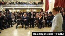 Встреча ректора университета Ильи Гиги Зедания со студентами, 8 февраля 2019 г.