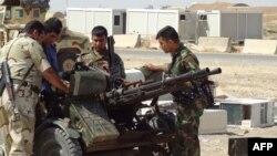 Члены курдских вооруженных формирований на военной базе около Киркука. Архивно-иллюстративное фото, 2014