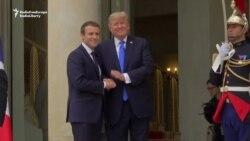 Президент США Дональд Трамп прибыл в Елисейский дворец в Париже (видео)