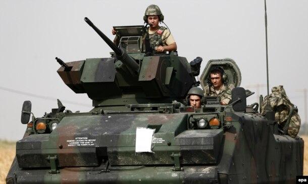 Турецкие солдаты в Сирии. 29 августа