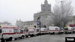 La gara din Volgograd după explozie