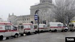 Russia. Volgograd. Explosion. December 29, 2013