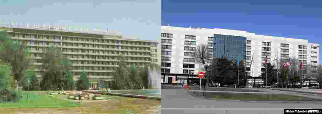 "Фрунзе-Бишкек.Мурдагы ""Кыргызстан"" мейманканасы, азыркы - Hyatt Regency Bishkek Hotel"