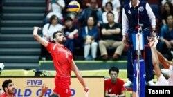 تیم ملی والیبال ایران با نتیجه سه بر دو فرانسه را برد.