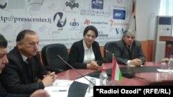 "Tajikistan, Dushanbe city, Zevar Davlatova, a head of TV ""Safina"",13January2016"