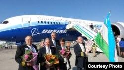 Boeing 787 Dreamliner учоғи тақдимот турнеси доирасида 2012 йилда Тошкент аэропортига ҳам қўнган