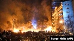 Революція гідності. Сутички у середмісті Києва, 25 січня 2014 року