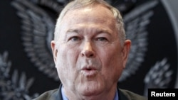 Russia -- Republican US Representative Dana Rohrabacher speaks at a news conference in Moscow, 02Jun2013