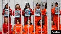 """Акция солидарности с активистами """"Гринпис"""" в Мехико"""