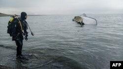 غرق شدن یک قایق حامل پناهجویان در سواحل ترکیه