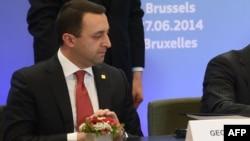 Ираклий Гарибашвили на церемонии подписания соглашения об ассоциации Грузии с ЕС