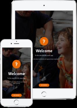RFE/RL News-App promo image - iPad