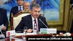 Uzbek President Shavkat Mirziyoev