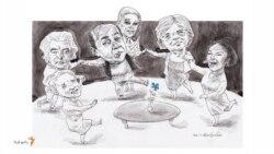 مهمانی سوسن فرخنیا؛ «هنرپیشهای با چشمهای آبی» میزبان فرح دیبا