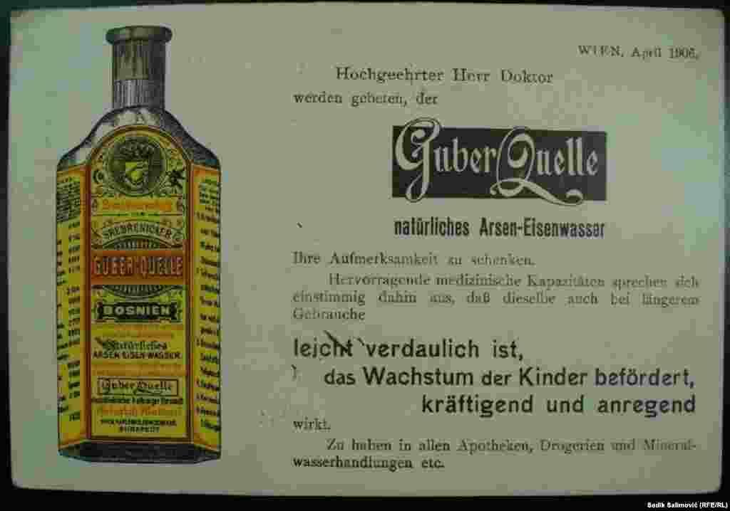 Ove ljekovite vode izvozila je Austrougarska krajem XIX vijeka u zemlje Evrope i Afrike. Voda se flaširala i rijekom Drinom transportovana preko Mađarske do Beča, zatim i dalje. Postoje zapisi da je do 1908. godine flaširano i izvezeno više od dva miliona litara Guber vode.