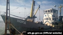 UKRAINE - Arrested fishing vessel Nord in Berdiansk port, 26Mar2018