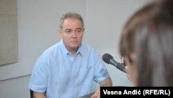 Zoran Lutovac u beogradskom studiju RSE, septembar 2018.