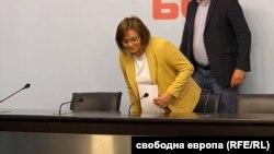Корнелия Нинова на първата си пресконференция след изборната загуба