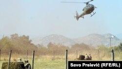 Exerciții militare la Golubovci, Muntenegru