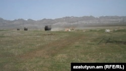 Armenia - A shooting range near Gyumri used by Russian troops, 8Apr2013.